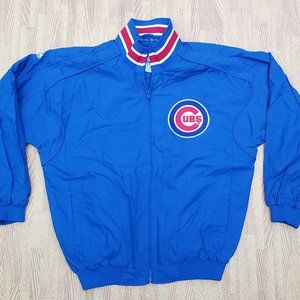 Chicago Cubs Majestic Manager Coat Jacket Boys XL